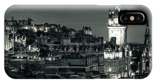 Edinburgh In Black And White IPhone Case