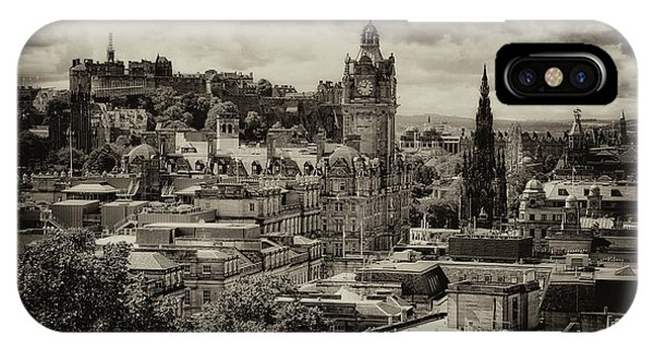 IPhone Case featuring the photograph Edinburgh In Scotland by Jeremy Lavender Photography