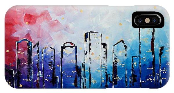 Edmonton City Skyline IPhone Case