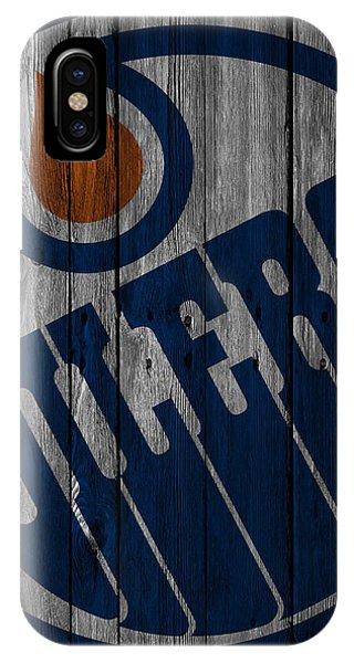 Puck iPhone Case - Edmonton Oilers Wood Fence by Joe Hamilton