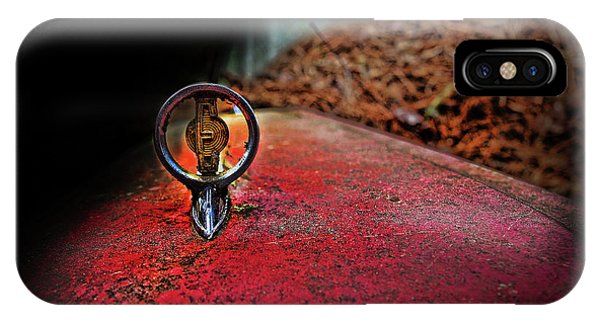 IPhone Case featuring the photograph Edsel Emblem by Glenda Wright