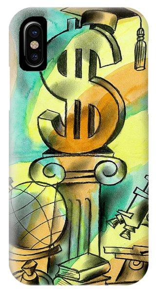 Debts iPhone Case - Education And Money by Leon Zernitsky
