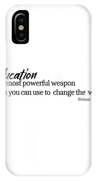 Education #minimalism IPhone Case