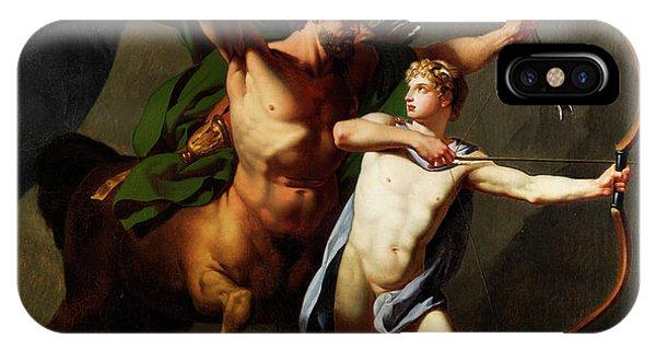 Centaur iPhone Case - Education Of Achilles By The Centaur Chiron by Baptiste Regnault