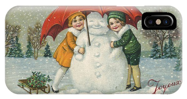 Edwardian Christmas Card IPhone Case