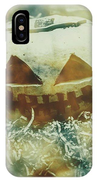 Or iPhone Case - Eerie Ghoulish Halloween Pumpkin Head by Jorgo Photography - Wall Art Gallery