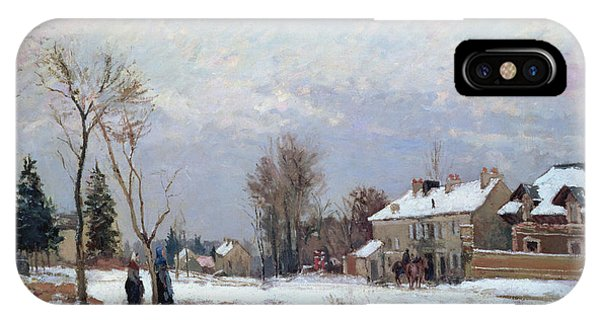 Snowy Road iPhone Case - Effects Of Snow by Camille Pissarro