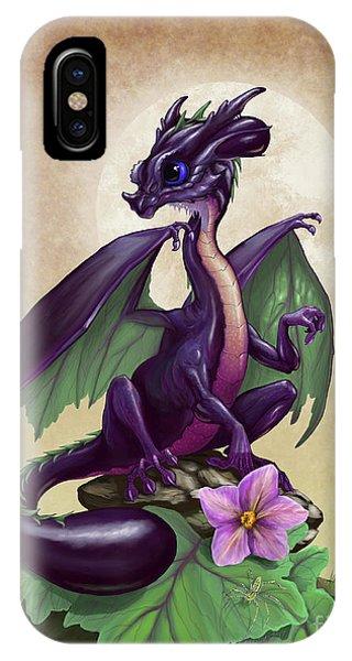 Eggplant Dragon IPhone Case
