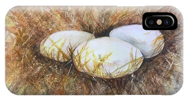 Eggs On Straw IPhone Case