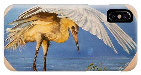 Chloe The  Flying Lamb Productions                  Egret Fishing IPhone Case