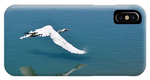Egret Flying Phone Case by Teresa Blanton