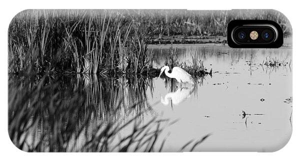 Horicon Marsh iPhone Case - Egret - Horicon Marsh - Wisconsin by Steven Ralser