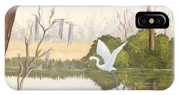 Egret In Flight 1 IPhone Case