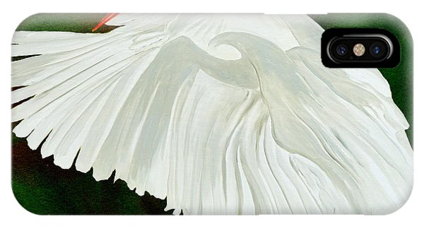Egret In Flight IPhone Case