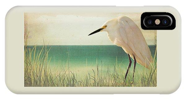 Egret In Morning Light IPhone Case