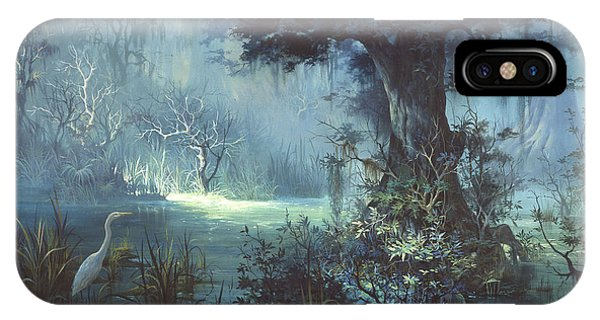 Egrets iPhone Case - Egret In The Shadows by Michael Humphries