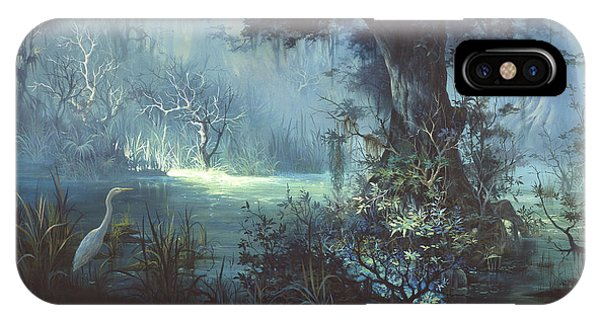 Egret iPhone Case - Egret In The Shadows by Michael Humphries