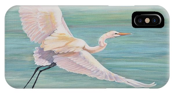 IPhone Case featuring the painting Egret by Jeanette Jarmon