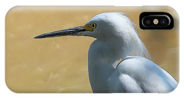 Egret Pose IPhone Case