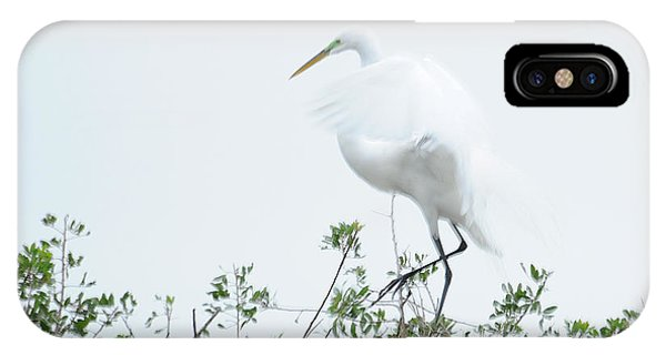 Egret Soft Landing Phone Case by Keith Lovejoy