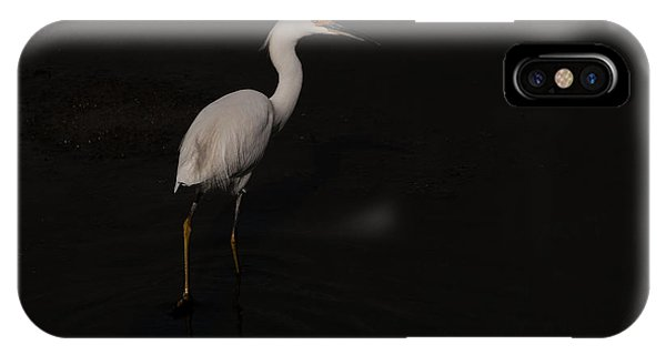 Egret Taking A Walk  IPhone Case