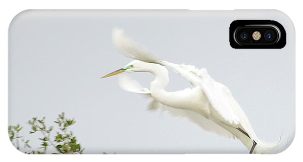 Egret-taking Flight Phone Case by Keith Lovejoy