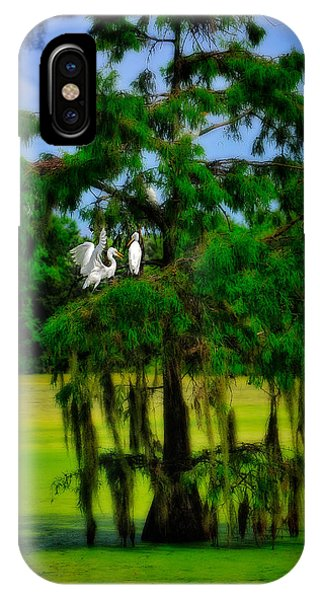 IPhone Case featuring the photograph Egret Tree by Harry Spitz