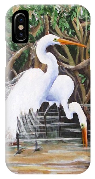 Egrets And Mangroves IPhone Case