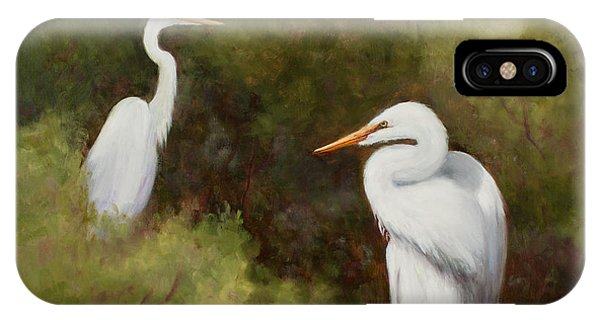 Egrets Roosting IPhone Case