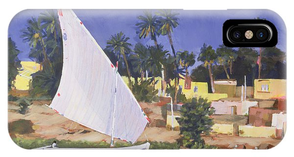 Neighborhood iPhone Case - Egypt Blue by Clive Metcalfe