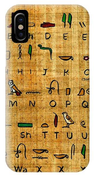 Egyptian Alphabet IPhone Case