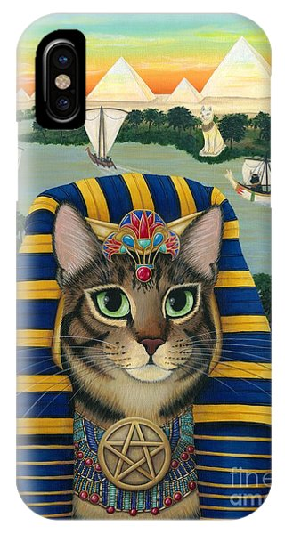 Egyptian Pharaoh Cat - King Of Pentacles IPhone Case