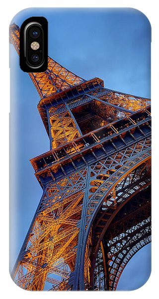 Eiffel Dressed In Gold IPhone Case