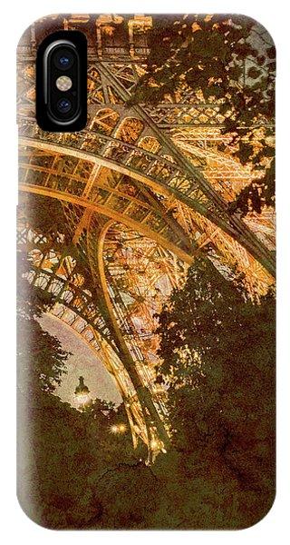 Paris, France - Eiffel Oldplate II IPhone Case