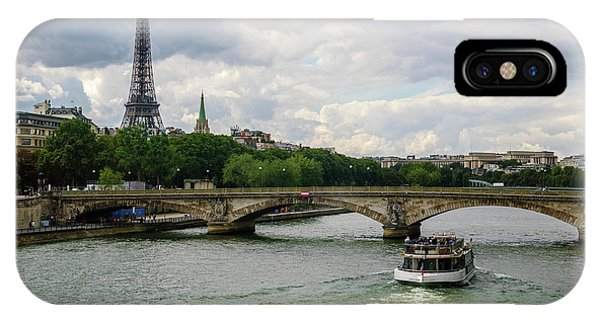 Eiffel Tower And The River Seine IPhone Case
