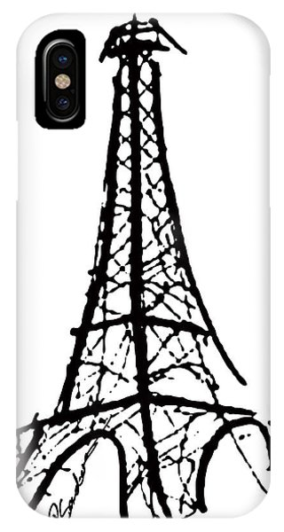 Eiffel Tower Black And White IPhone Case