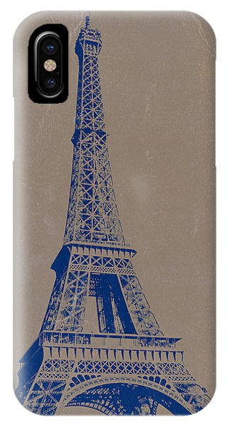 Paris iPhone Case - Eiffel Tower Blue by Naxart Studio