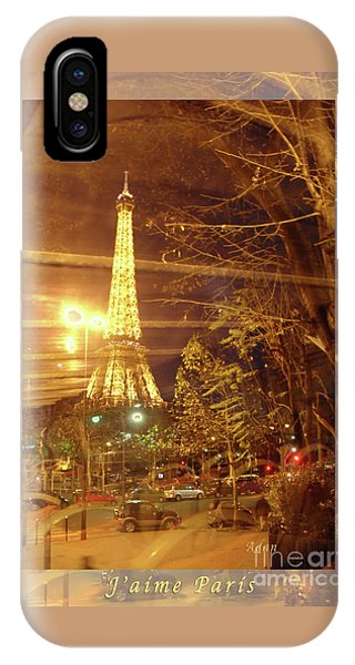 Eiffel Tower By Bus Tour Greeting Card Poster IPhone Case