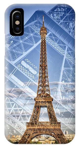 Double iPhone Case - Eiffel Tower Double Exposure II by Melanie Viola