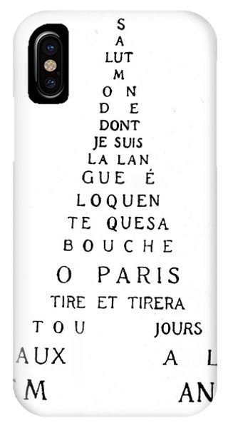 Paris iPhone Case - Eiffel Tower by Guillaume Apollinaire