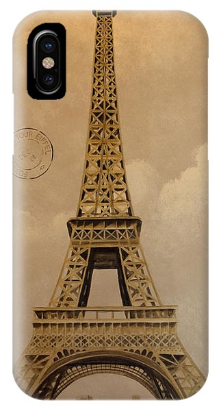 Eiffel Tower Phone Case by Holly Whiting