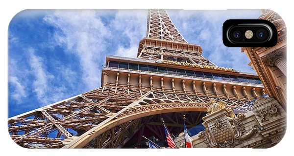 IPhone Case featuring the photograph Eiffel Tower Las Vegas  by Ricardo J Ruiz de Porras