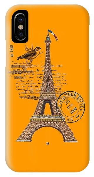 Eiffel Tower T Shirt Design IPhone Case
