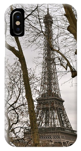 Eiffel Tower Through Branches IPhone Case