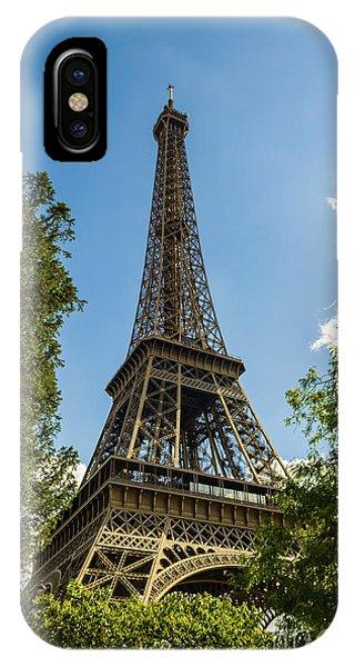 Eiffel Tower Through Trees IPhone Case