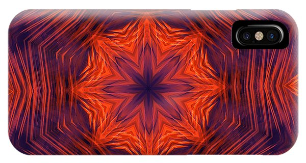 Eight Petal Orange Kaleidoscope IPhone Case