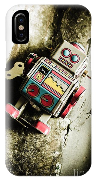 Virus iPhone Case - Eighties Cybernetic Droid  by Jorgo Photography - Wall Art Gallery