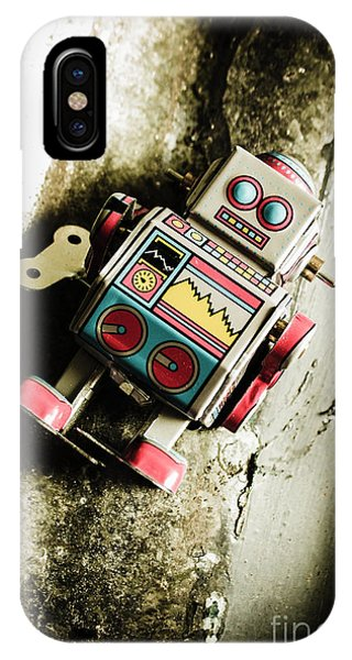 Robot iPhone Case - Eighties Cybernetic Droid  by Jorgo Photography - Wall Art Gallery