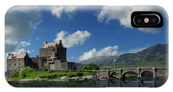 IPhone Case featuring the photograph Eilean Donan Castle by Don and Bonnie Fink