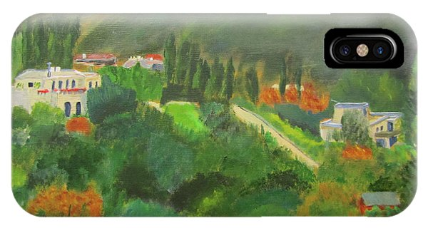 IPhone Case featuring the painting Ein Hod View by Linda Feinberg